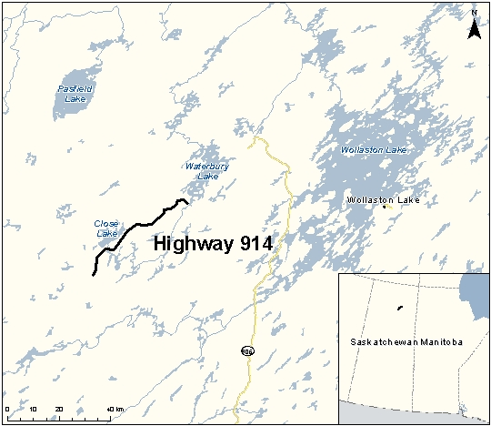 Highway 914 - All Weather Roadway - McArthur River Mine Site to ...
