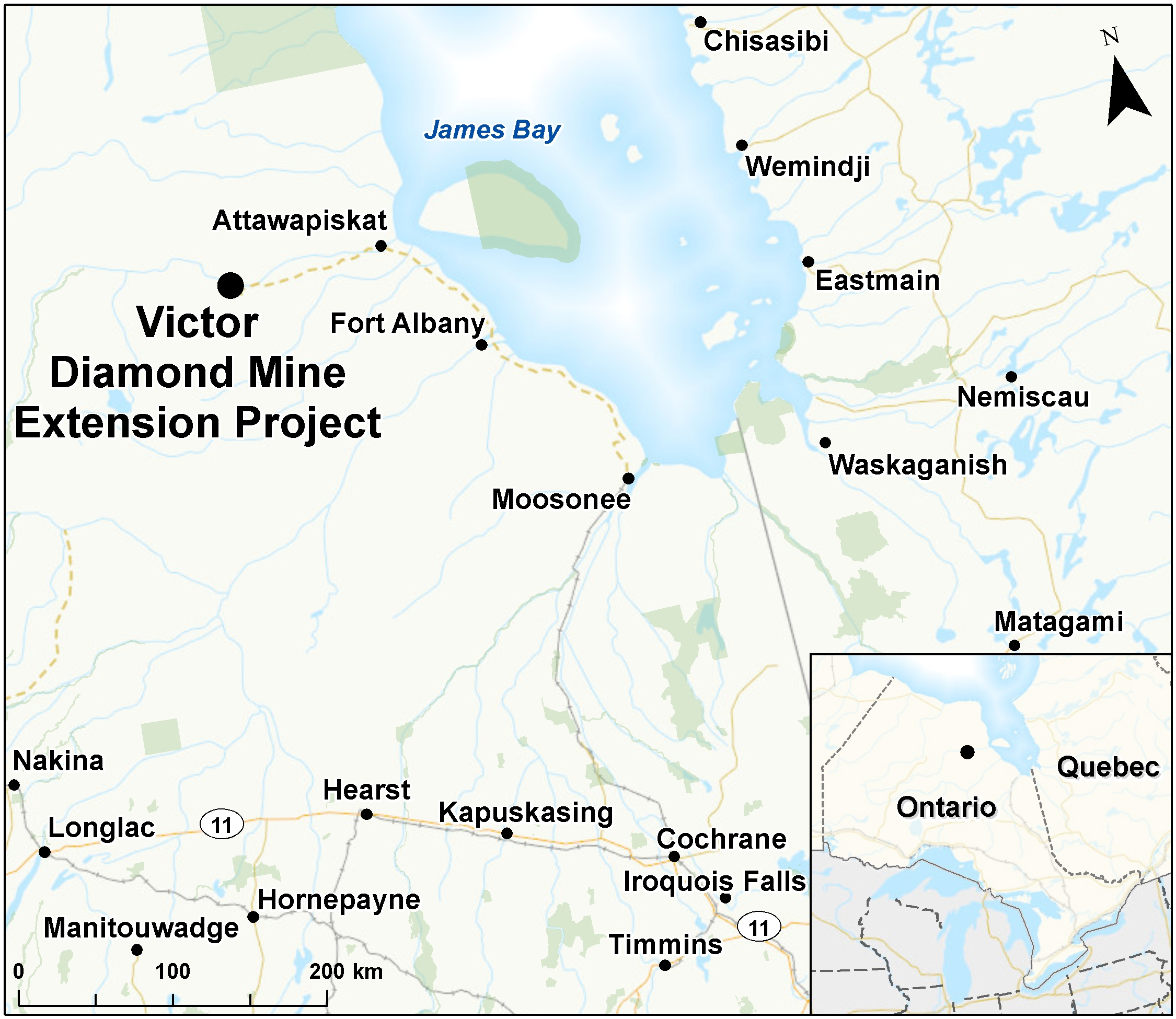 Victor Diamond Mine Extension Project Canada