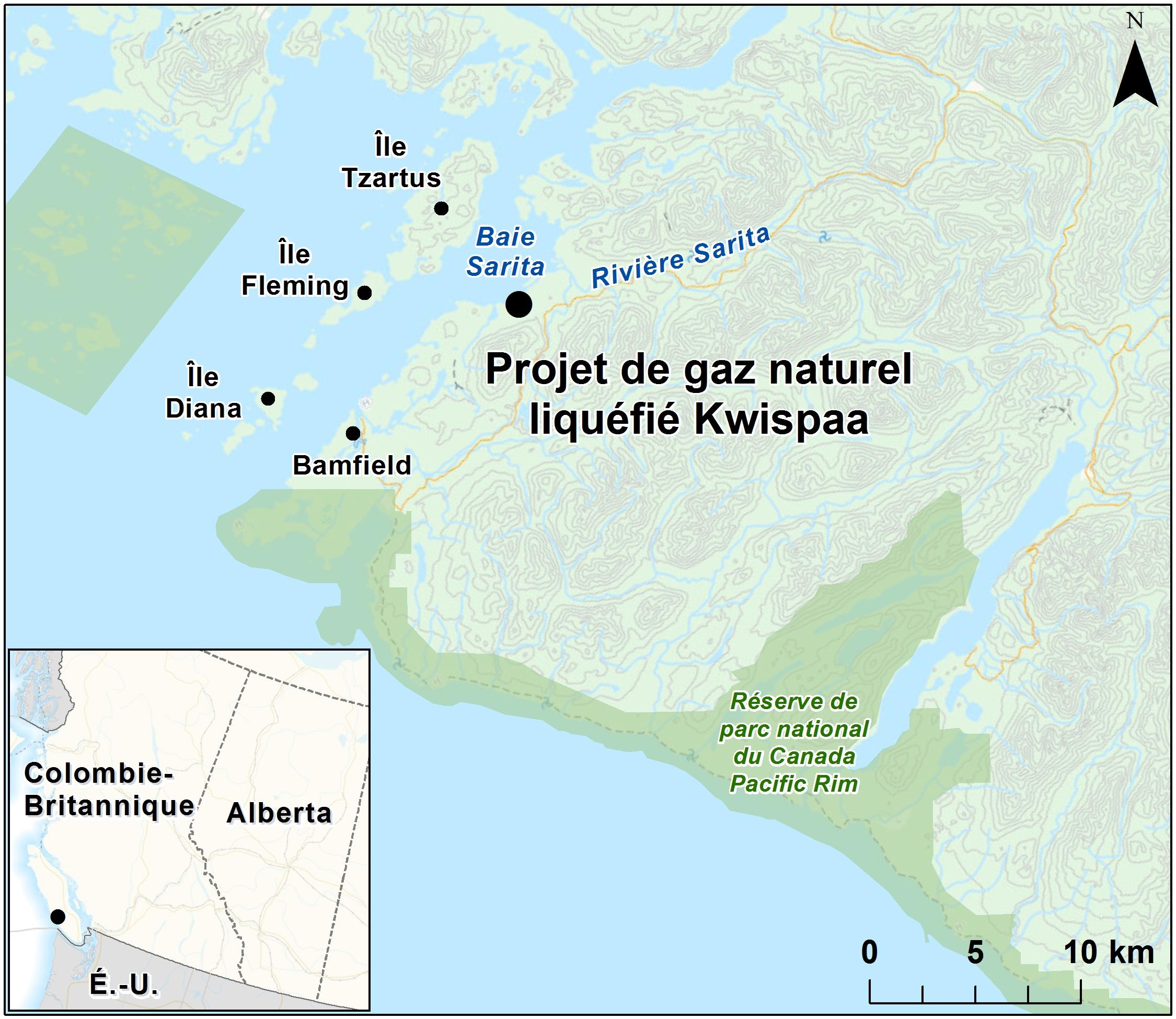 Carte indiquant l emplacement du projet, tel que décrit dans le présent  document. 5bcc647bca0b